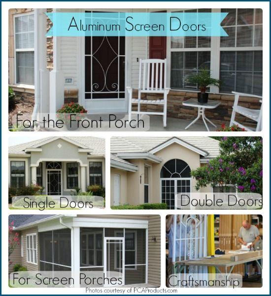 Like this attractive aluminum screen door. #porch