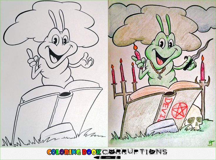 These Hilarious Coloring Book Corruptions Show That Some People Have Too Much On Their Hands
