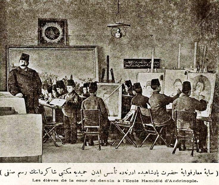 Edirne - Hamidiye mektebi resim bölümü