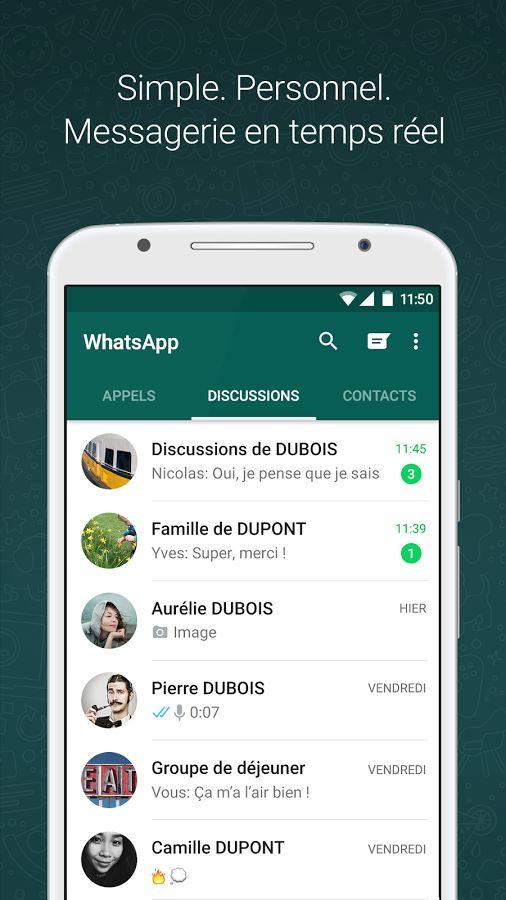WhatsApp Messenger– Capture d'écran