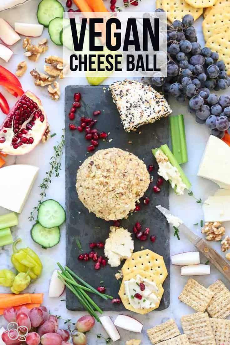 Vegan Cheese Ball Recipe Vegan Cheese Healthy Vegan Snacks Vegan Appetizers
