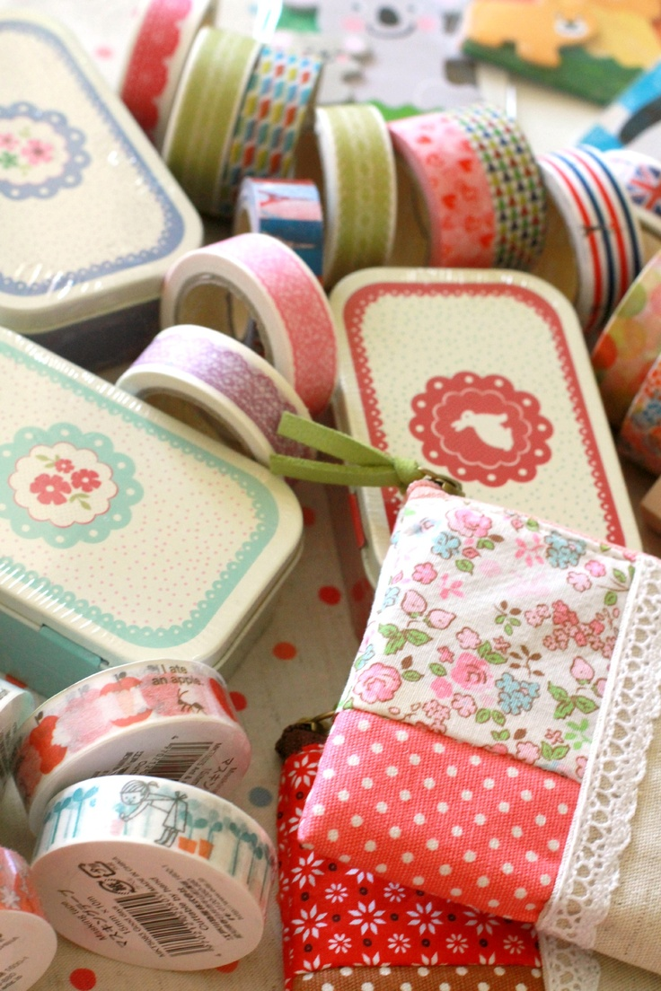 Shabby chic, floral stationery and washi tapes from Chibi Run