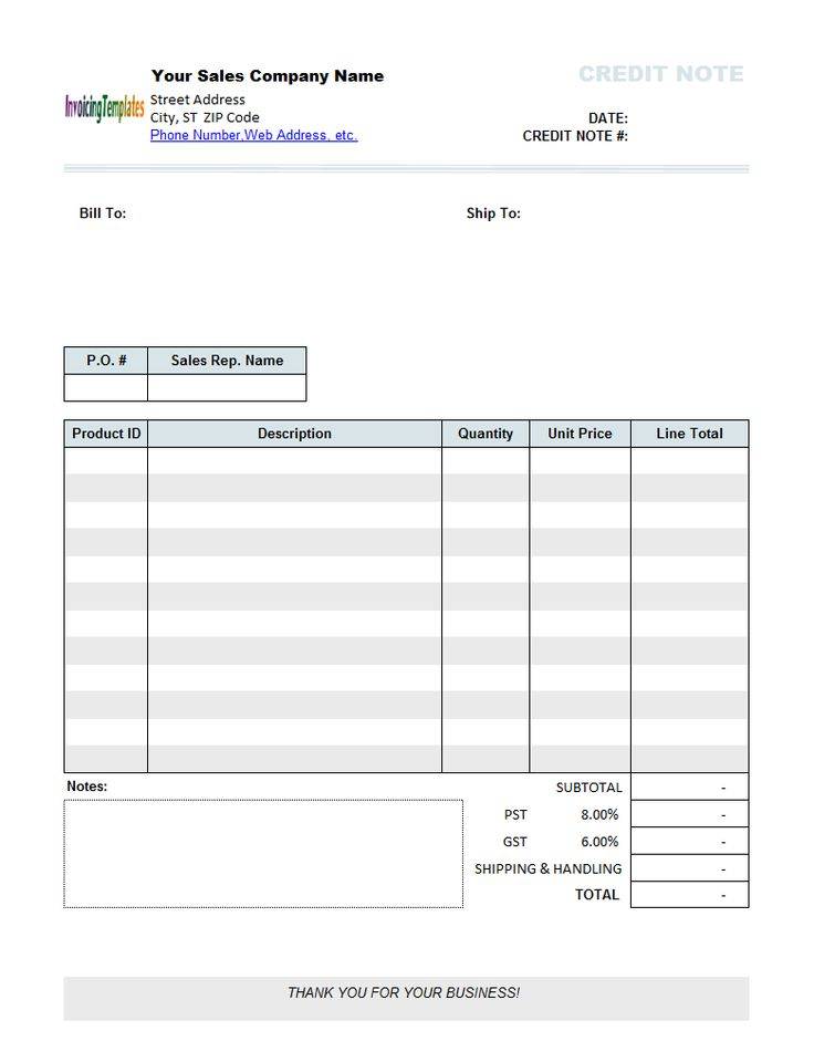 Credit Note Template - print result Business Forms Pinterest - credit note sample template