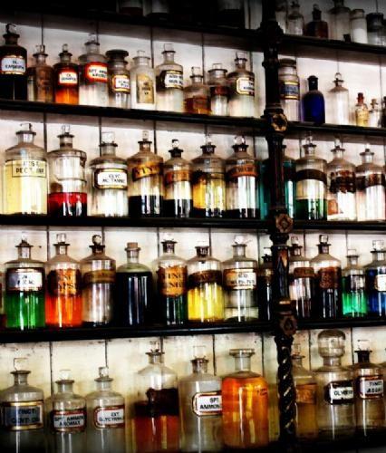 Old pharmacy bottles!