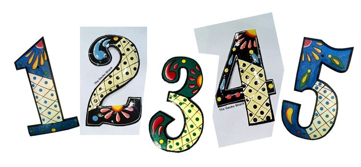 The Gecko Shack - House Numbers - mix and match your number colours... 20cm high 11cm wide. be the envy of your street... these numbers look great