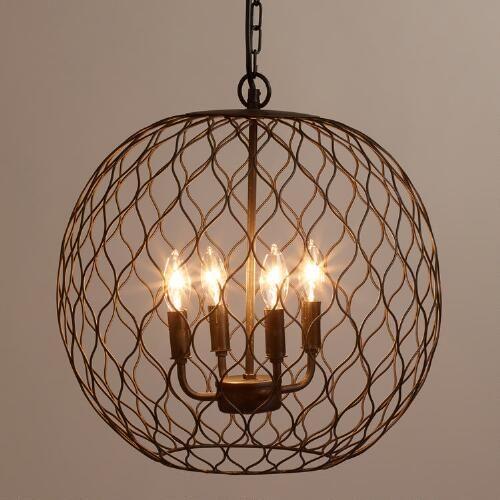 one of my favorite discoveries at worldmarketcom dark bronze globe farmhouse chandelier amelie distressed chandelier perfect lighting
