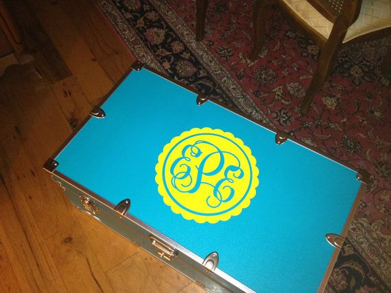 Personalized Camp Trunk Monogram Decal