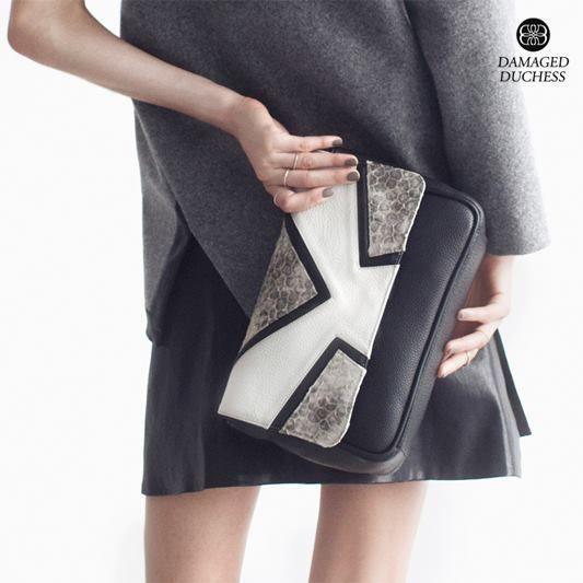OPAL leather shoulder bag http://shop.damaged-duchess.com/product/dd101  #damagedduchess #neonoir #nearfuture #nostalgia #handbags #leathergoods #womenaccessories #opal #shoulderbag