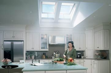 The VELUX Electric Opening Skylight brings abundant natural light into your home and with the touch of a button, it opens to let fresh air in