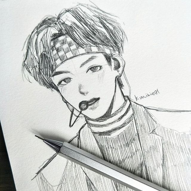Bts Anime Drawing V Anime Collection