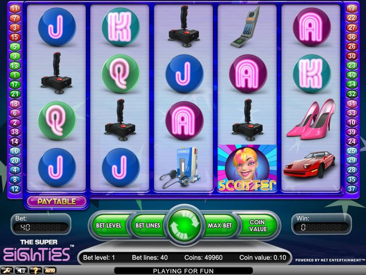 Super 80s - http://freeslots77.com/super-80s/ - The period of the 1980s was definitely the time when the world witnessed a revolution in the fashion and music industry. If you want to enjoy a glimpse of the era and win money, then playing the free Super 80s online slot will be a good idea. The popular slot will not only take you to the bygone...