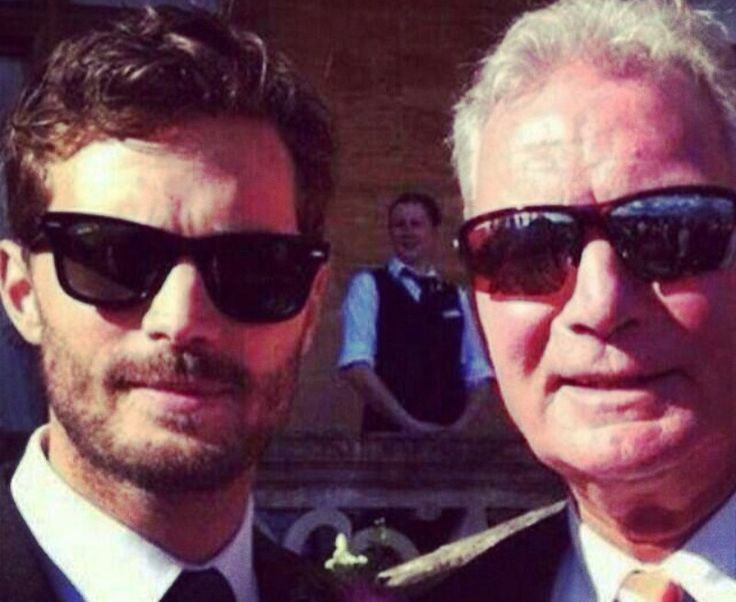 Jamie and his dad at his wedding