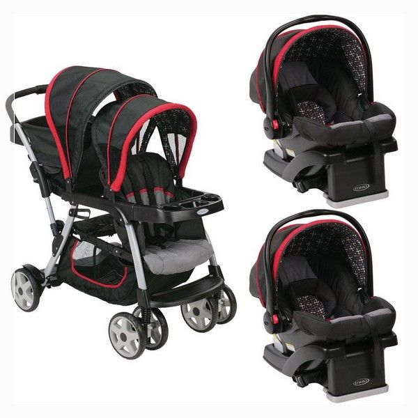 Double Stroller With Car Seat For Infant And Toddler Car Seats