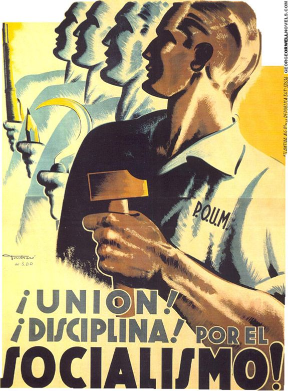 poum poster from the spanish civil war