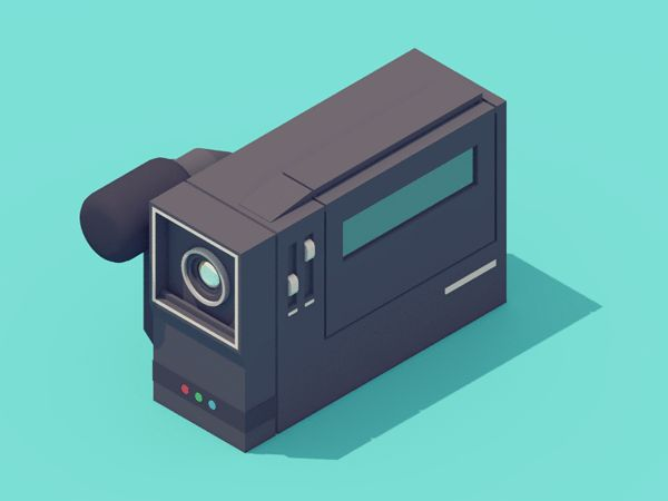 Delightful 3-D Animations of '90s Electronic Items by Guillaume Kurkdjian — NEON