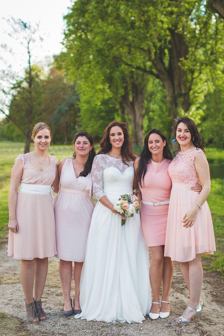 bridesmaids dresses pink pastel dress