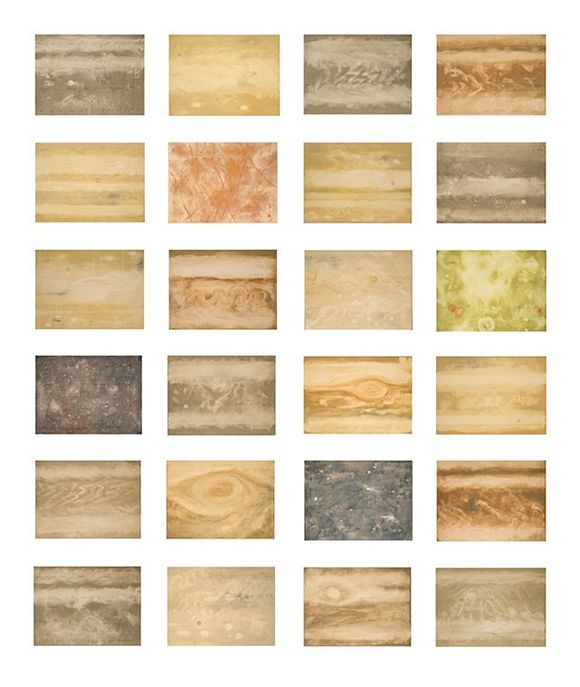"Julie Montgomery, ""Jupiter Surfaces,"" Acrylic on canvas, 64"" X 54"""