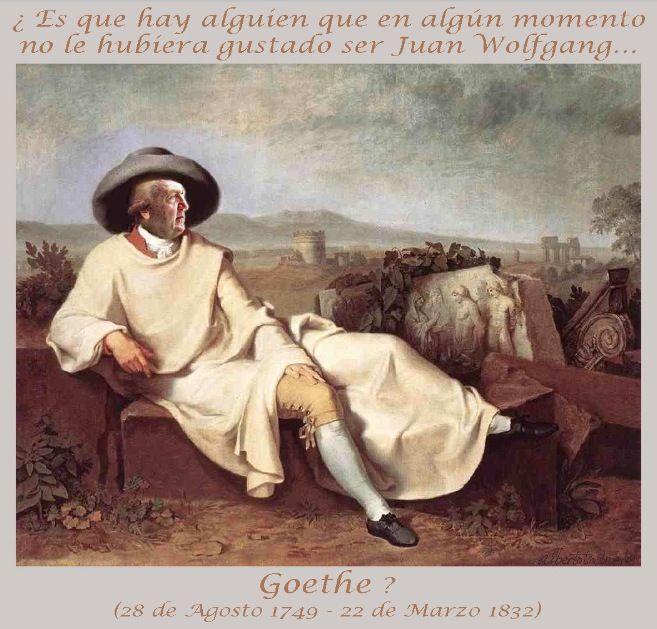 """¿MARTES DE CARNAVAL?,¡PUES ME DISFRAZO! // Nadie se asombre por esta """"pata-banco"""" de la imagen de Goethe en romana campiña saqueada; ¿es que hay alguien que en algún momento no le hubiera gustado ser Juan Wolfgang?; el genio universal de vacaciones allí """"donde florece el limonero"""", gustando de la copa de la vida, fecundo en ciencia, en arte, en poesía; de quien """"alguien"""" dijera: """"He aquí un hombre""""… (Ver ➦)…"""
