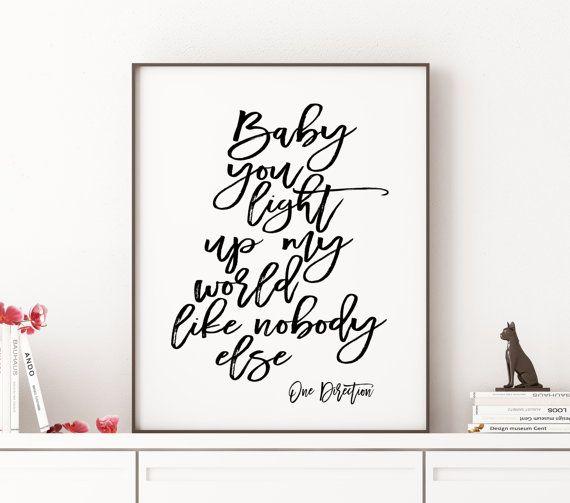 ONE DIRECTION ART Typography Art Print Song Lyrics by TheCasaNova