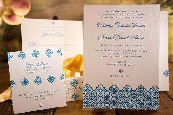 Morocco Invitation Suite by DeliciousRepublic, $100.00 deposit, as low as $1 per suite!