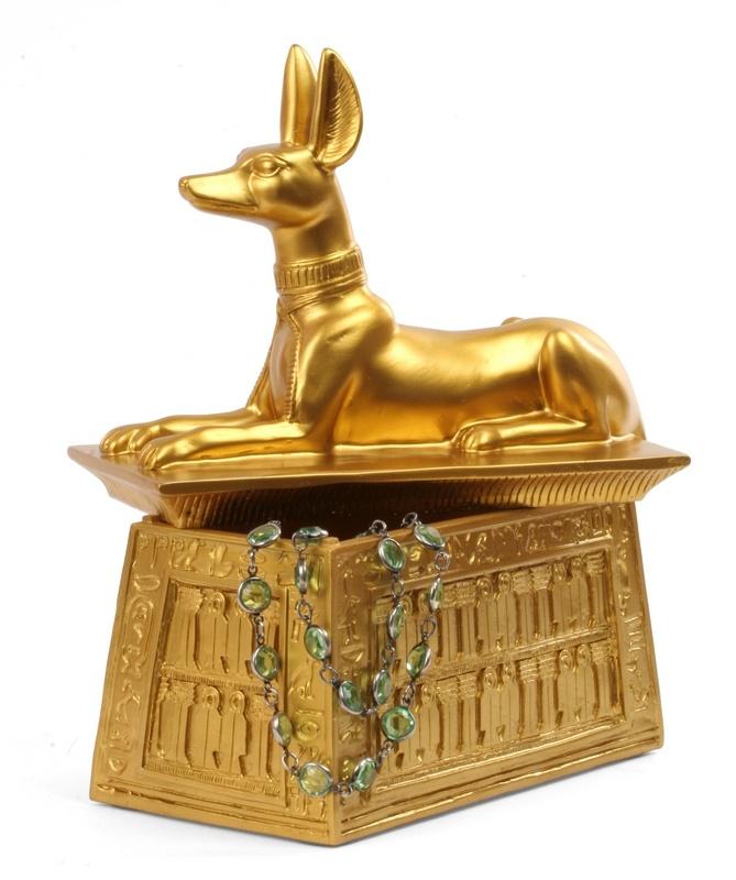 Mısır'da ölüleri koruyan Anubis, artık takılarınızı korumak için taa Mısır dan geldi... Anubis Mücevher Kutusu 29,9 TL ye burada:  http://www.buldumbuldum.com/hediye/jewelry_box_anubis_anubis_mucevher_kutusu/
