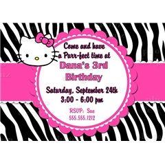 24 best Hello kitty zebra images on Pinterest Cat party Kitty
