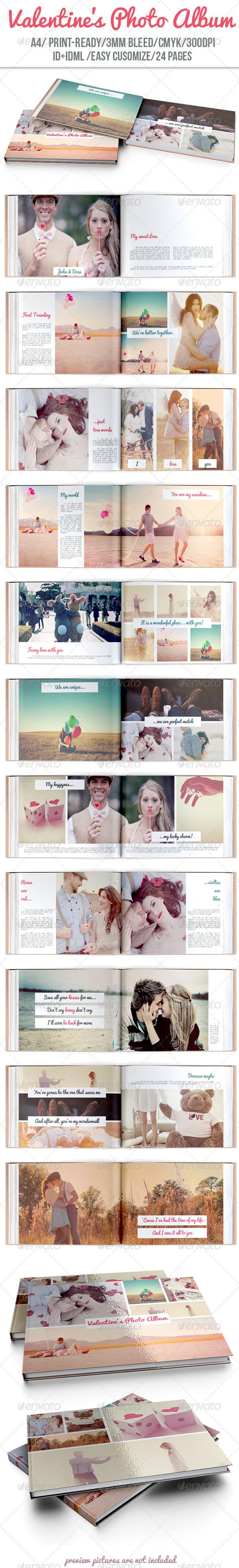 Valentines Photo Album - Photo Albums Print Templates