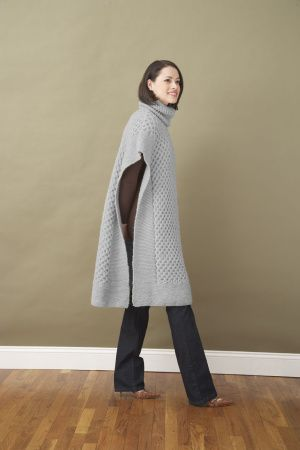 Honeycomb Poncho - Free Knitting Pattern: