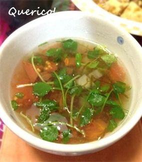 5分でできる、酸っぱ!がクセになるトマトともずくのスープ。|レシピブログ