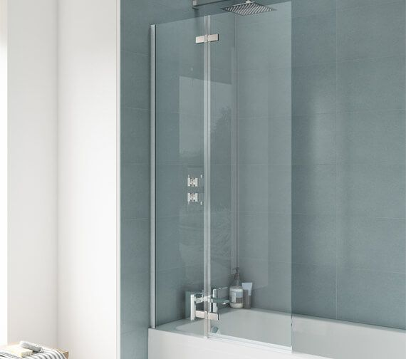 Nuie Premier Ella 745 X 1400mm Straight Hinged Bath Screen Erss1 Bath Screens Straight Baths Square Bath