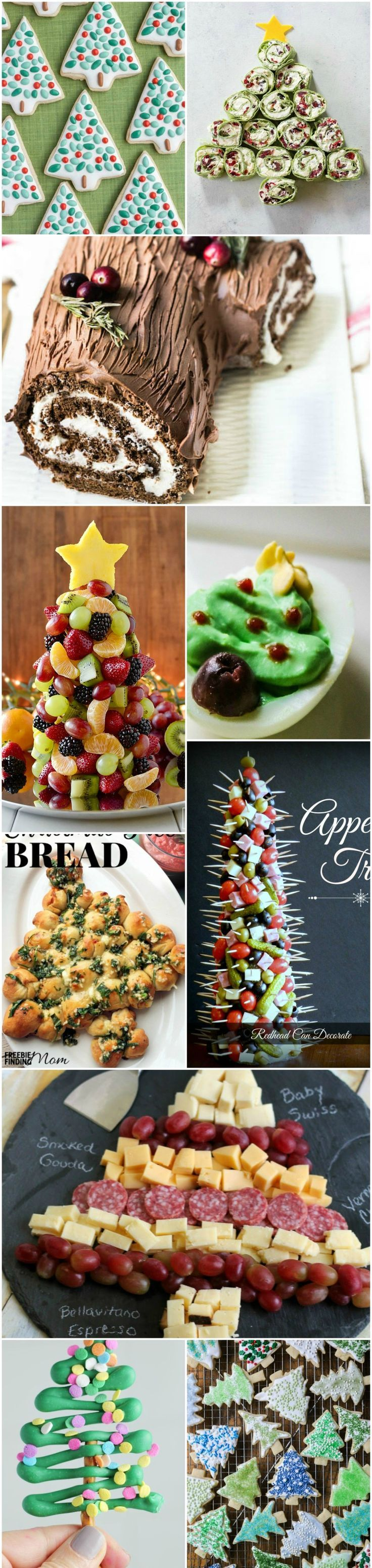 Trees belong at the table for the holidays -- as appetizers, lunch, side dish and dessert! Tree-shaped food is easy and fun for festive gatherings.