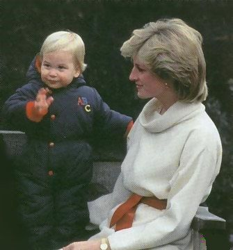 Diana with baby William
