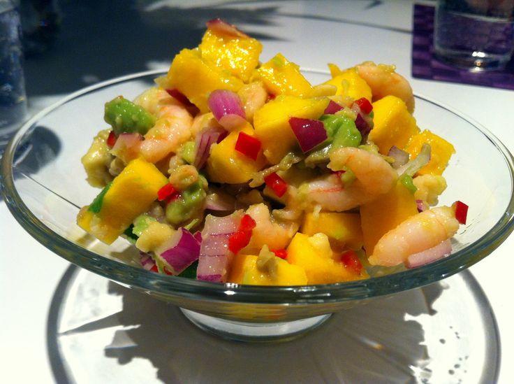 Räkcoctail med chili och koriander