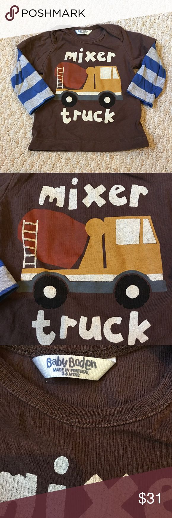 Boden mixer truck shirt Hard to find mixer truck shirt Mini Boden Shirts & Tops Tees - Long Sleeve