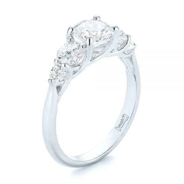 14k White Gold Custom Diamond Engagement Ring 103406 Seattle Bellevue Joseph Jewelry In 2020 Round Diamond Engagement Rings Engagement Rings Custom Diamond Engagement Rings