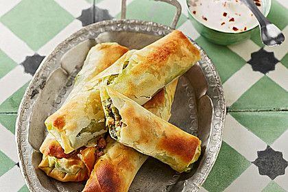 Zeldas Hackfleisch - Börek mit Spinat, ein sehr leckeres Rezept aus der Kategorie Rind. Bewertungen: 13. Durchschnitt: Ø 3,9.