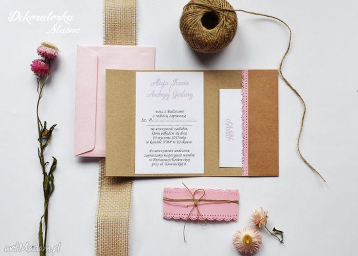 • ręczne wykonanie zaproszenia, ślub - zaproszenie slubne