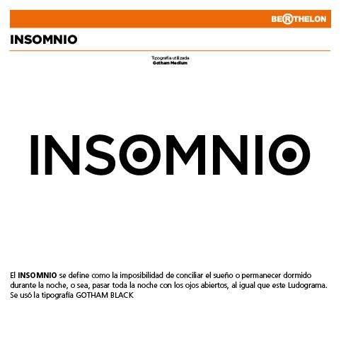 "Ludograma ""Insomnio"" (""Insomnia"" in English) by Juan Carlos Berthelon."