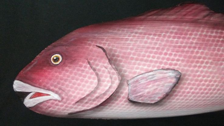 """PALM FROND Fish """"Red Snapper"""" By Artist Dale Werner by PalmFrondFish on Etsy"""