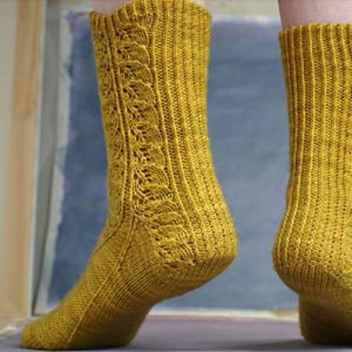 Ravelry: Cataphyll Socks pattern by Hunter Hammersen #knit