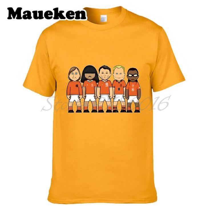 Men's netherlands legends Johan Cruyff Edgar Davids Ruud Gullit Dennis Bergkamp Marco Van Basten T-shirt T Shirt tee W0523027 #Affiliate