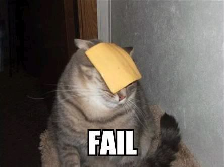 Who fails at cheese?