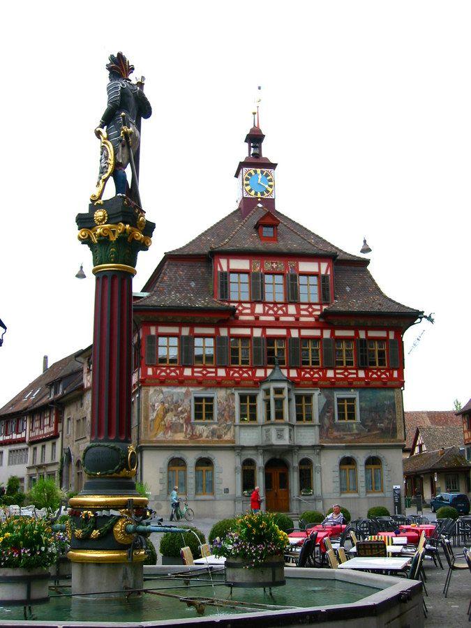 Town Hall and Fountain, Stein am Rhein, Switzerland