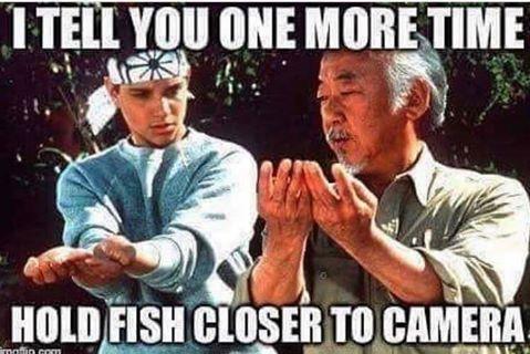 Mr. Miyagi always knew how to take great fish pics!