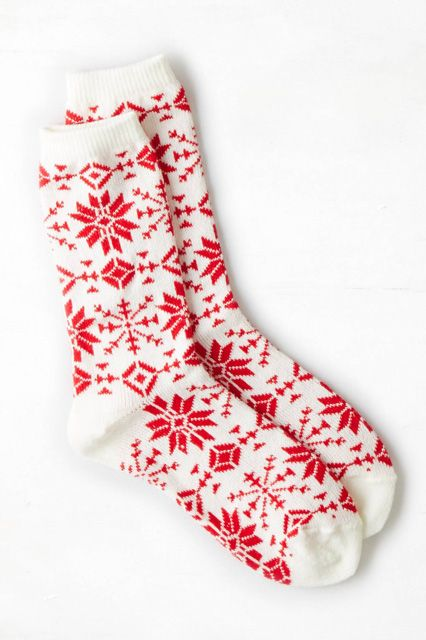 christmas socks, fair isle, pattern, design, print, red and white, festive, winter, pattern