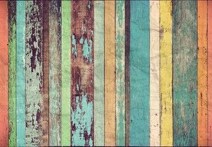 Coloured Wooden Wall Mural