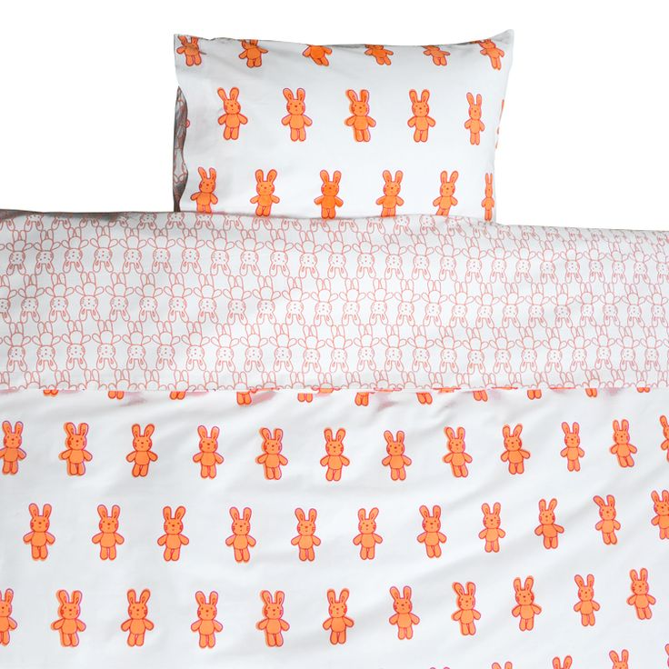 Bunny rabbit Toddler Cot Bed Duvet Set and Cot Bedding from Lulu and Nat | Lulu and Nat