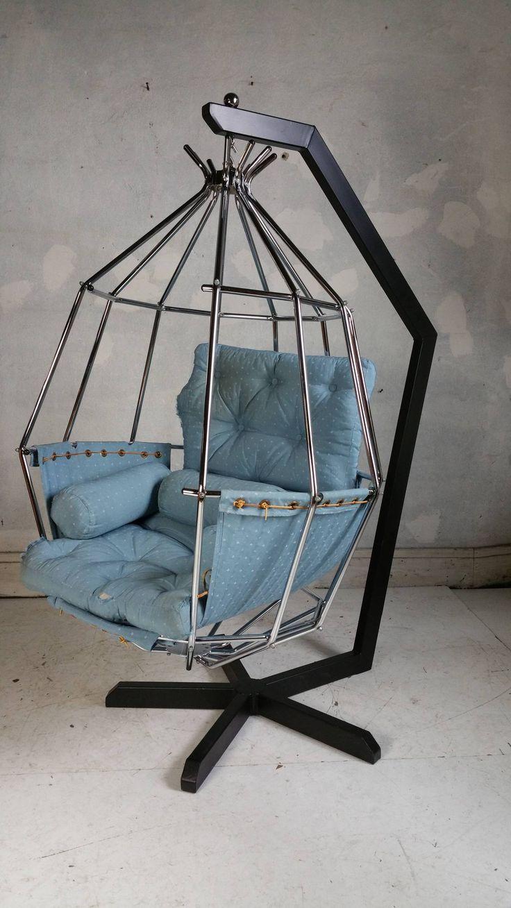 50 sleek funky and weird chair designs webdesigner depot and weird - Ib Arberg Hanging Birdcage Chair Or Parrot Chair Circa 1970