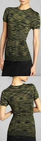 Knit Cotton and Viscose Top