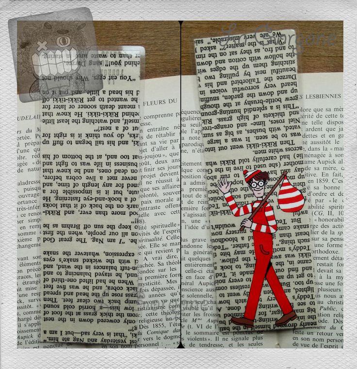 Hello Charlie.... Marque page de la Gorgone. Recyclage. : Marque-pages par la-gorgone
